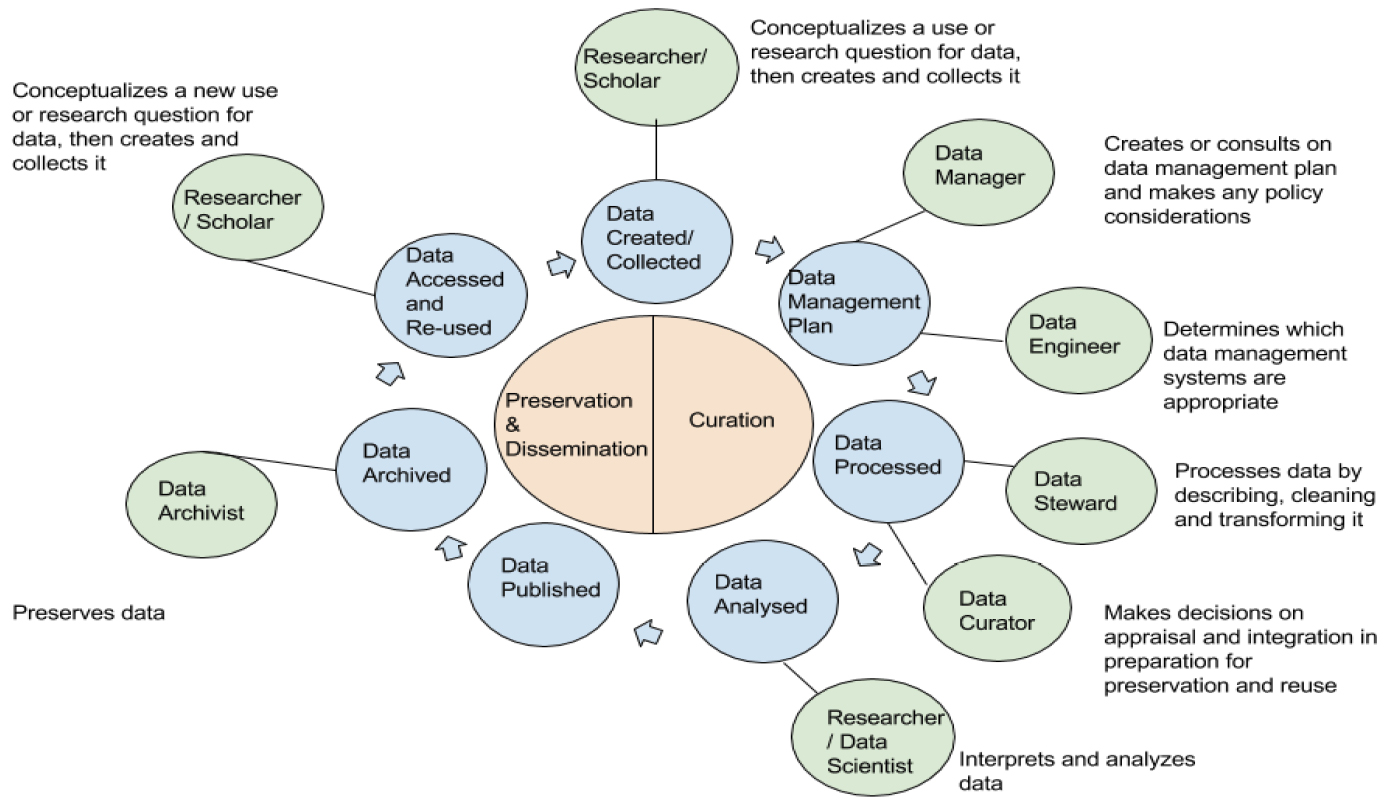 Figure 3. Roles within the data lifecycle